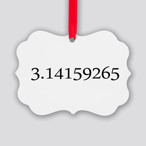 Number pi Picture Ornament