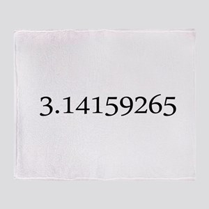 Number pi Throw Blanket