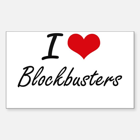 I Love Blockbusters Artistic Design Decal