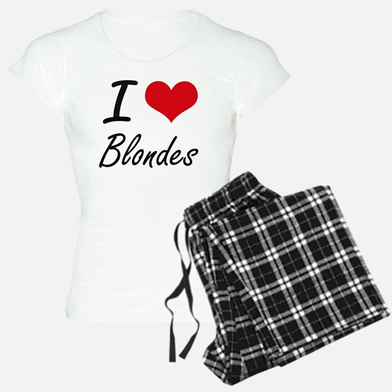 I Love Blondes Artistic Des Pajamas