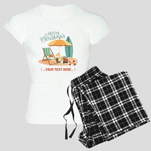 Merry Christmas Beach Women's Light Pajamas