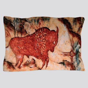 Bison Petroglyph Pillow Case