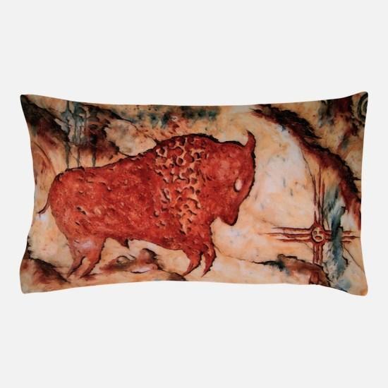Bison Petroglyph Pillow Case