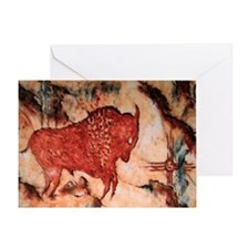 Bison Petroglyph Card Greeting Cards