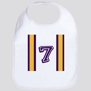 PURPLE AND GOLD NUMBER SEVEN Bib