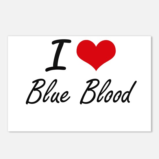 I Love Blue Blood Artisti Postcards (Package of 8)