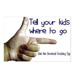 Tell em Where to go. Postcards (Package of 8)
