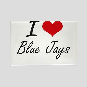 I Love Blue Jays Artistic Design Magnets