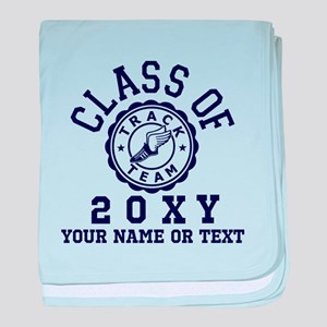 Class Of 20?? Track baby blanket