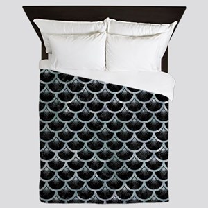 SCALES3 BLACK MARBLE & ICE CRYSTALS (R Queen Duvet
