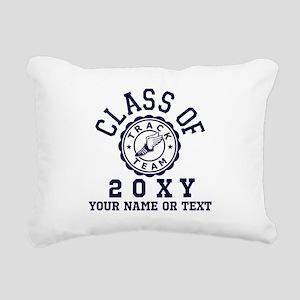 Class Of 20?? Track Rectangular Canvas Pillow