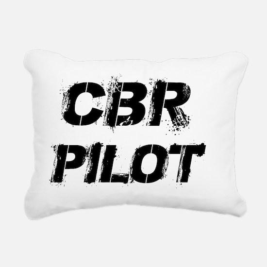 CBR Pilot Black Letters Rectangular Canvas Pillow