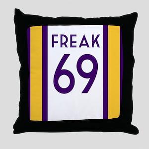 freak purple Throw Pillow