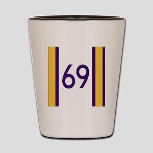 sixty nine purple Shot Glass