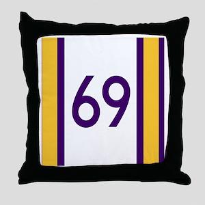 sixty nine purple Throw Pillow