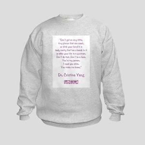 YOU MAKE ME BRAVE Kids Sweatshirt