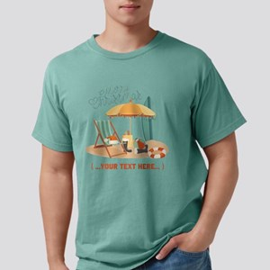 Merry Christmas Beach Mens Comfort Colors Shirt