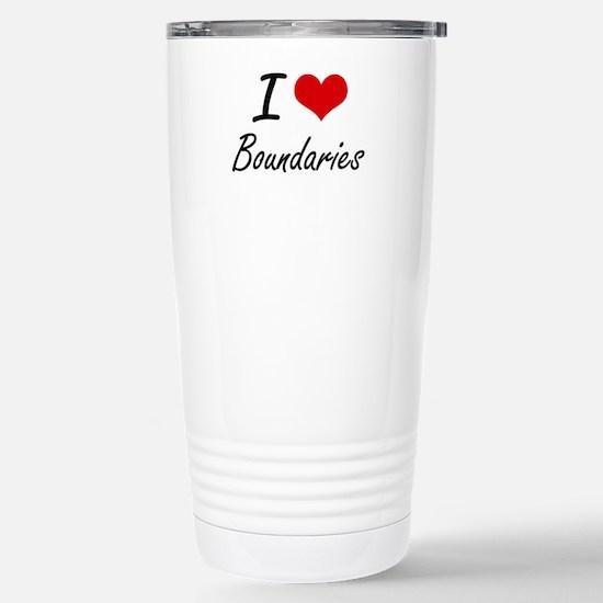 I Love Boundaries Artis Stainless Steel Travel Mug