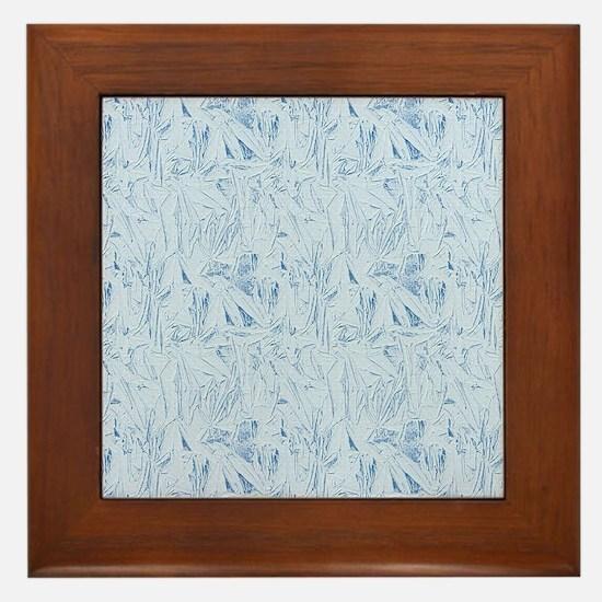 Blue Texture Framed Tile
