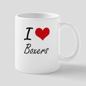 I Love Boxers Artistic Design Mugs