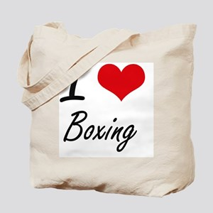 I Love Boxing Artistic Design Tote Bag