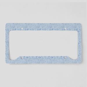 Blue Texture License Plate Holder