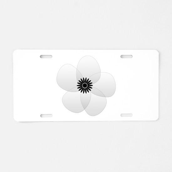Cute Chic Anemone Aluminum License Plate