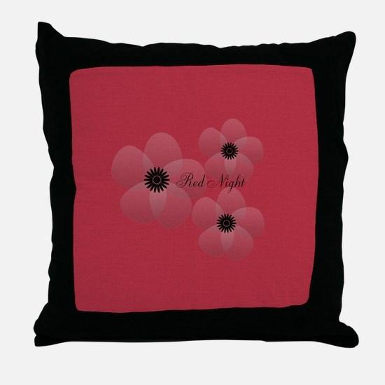 Cute Chic Anemone Throw Pillow