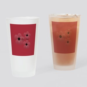 Cute Chic Anemone Drinking Glass