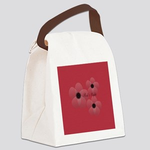 Cute Chic Anemone Canvas Lunch Bag