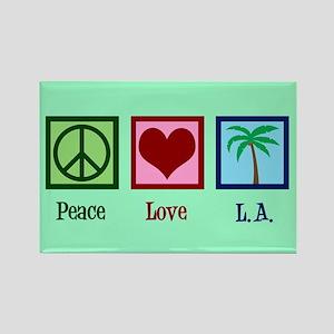 Peace Love L.A. Rectangle Magnet