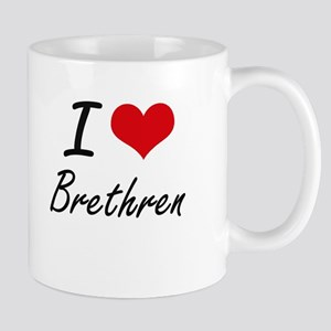 I Love Brethren Artistic Design Mugs