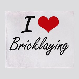 I Love Bricklaying Artistic Design Throw Blanket