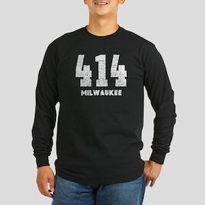 414 Milwaukee Distressed Long Sleeve T-Shirt