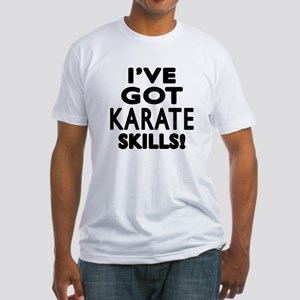 Karate Skills Designs Fitted T-Shirt