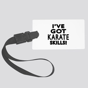 Karate Skills Designs Large Luggage Tag