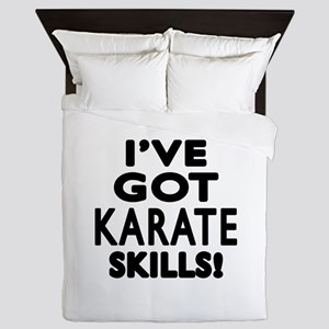 Karate Skills Designs Queen Duvet