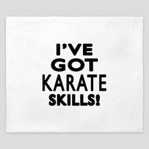 Karate Skills Designs King Duvet