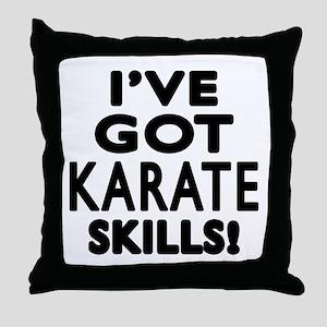 Karate Skills Designs Throw Pillow