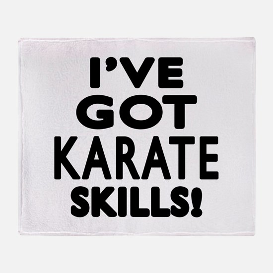 Karate Skills Designs Throw Blanket
