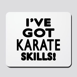 Karate Skills Designs Mousepad