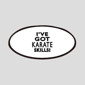 Karate Skills Designs Patch