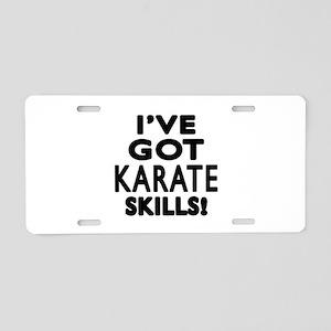 Karate Skills Designs Aluminum License Plate