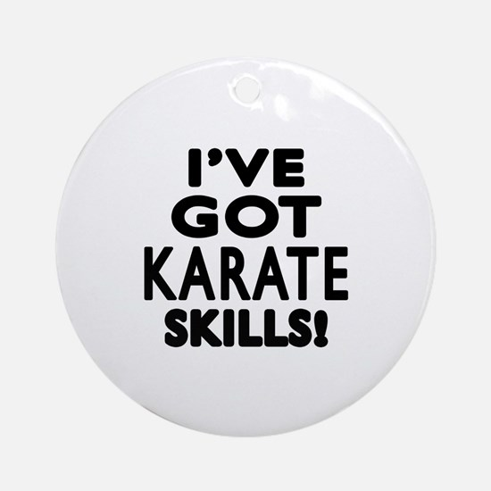 Karate Skills Designs Round Ornament