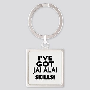 Jai Alai Skills Designs Square Keychain