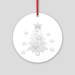 Cute Glossy Christmas Round Ornament