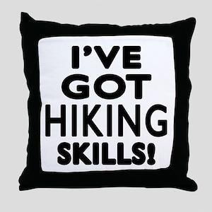 Hiking Skills Designs Throw Pillow