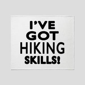 Hiking Skills Designs Throw Blanket