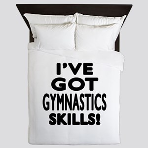 Gymnastics Skills Designs Queen Duvet
