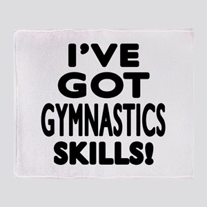 Gymnastics Skills Designs Throw Blanket